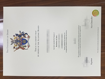 University of Derby degree certificate.