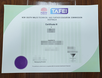 Where can I get a TAFE NSW Certificate?