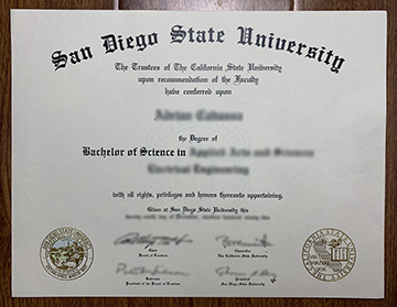 San Diego State University diploma Issued in This Year