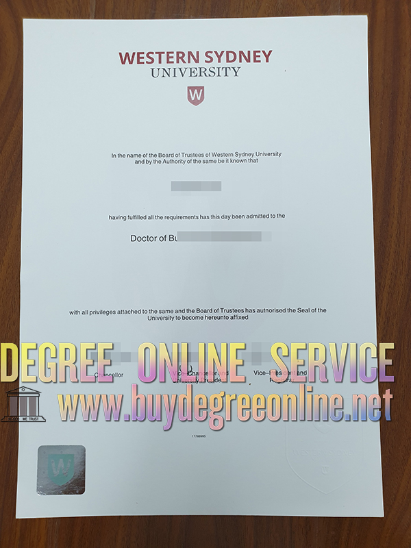 How to get western Sydney university degree