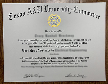 Texas A&M University-Commerce Degree Sample In The U.S