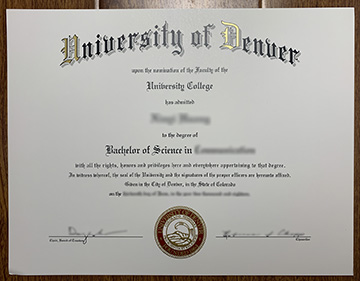 Will You Use a Copy of The University of Denver Degree?