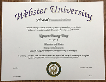 How to obtain a Webster University degree certificate?