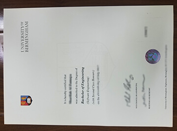 University of birmingham degree,UoB diploma