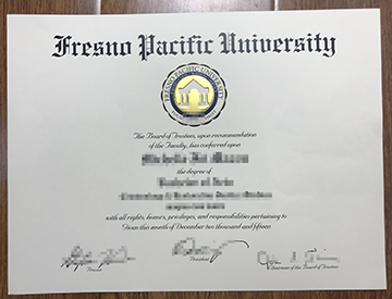 How to copy a Fresno Pacific University(FPU)degree?