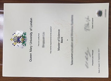 The Evolution of Queen Mary University of London certificate