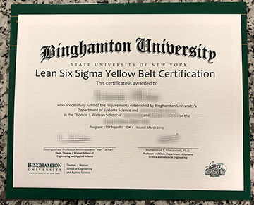 How To Get Replacement The Six Sigma Fake Certificate From Binghamton University?