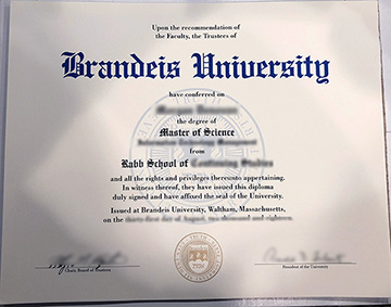 Where Can I Personally Order A Fake Diploma From Brandeis University?