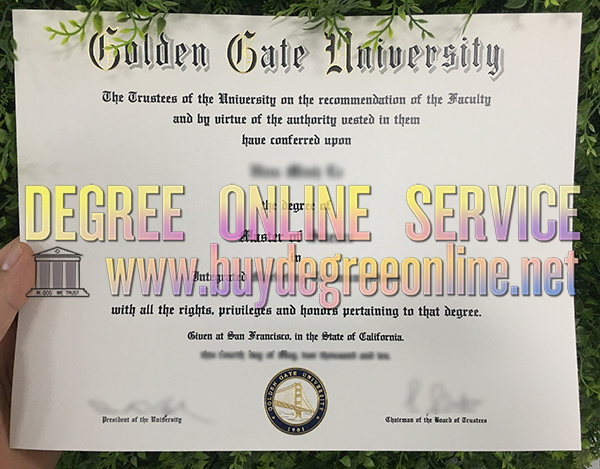 Golden Gate University degree