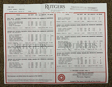 Where To Buy Rutgers University The State Of New Jersey Transcript ?