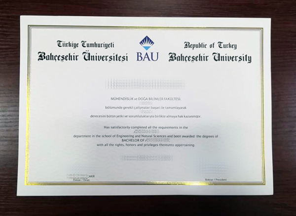 What Are The Relevant Methods For Making A Bahçeşehir University (BAU) Degree Certificate?
