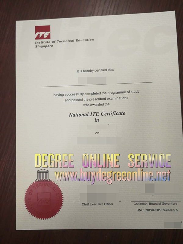 Institute of Technical Education ceirtificate