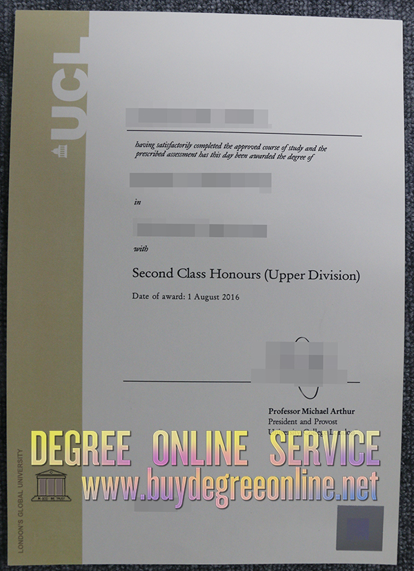 UCL degree