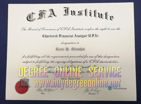 certificate cfa institute financial analyst chartered certificates buydegreeonline fake degree measurement performance