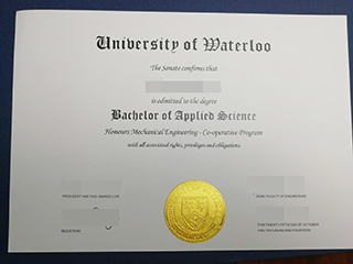 Where to get a University of Waterloo degree look as same as real ones