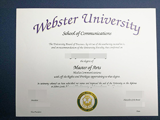 How to make a Webster University degree look as same as real ones