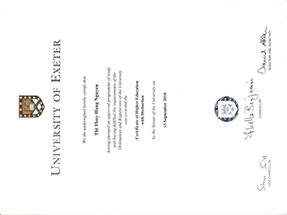 How to buy a fake University of Exeter degree online