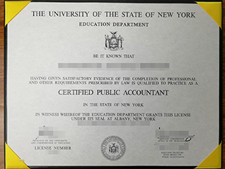 Where can I order a fake New York CPA certificate online