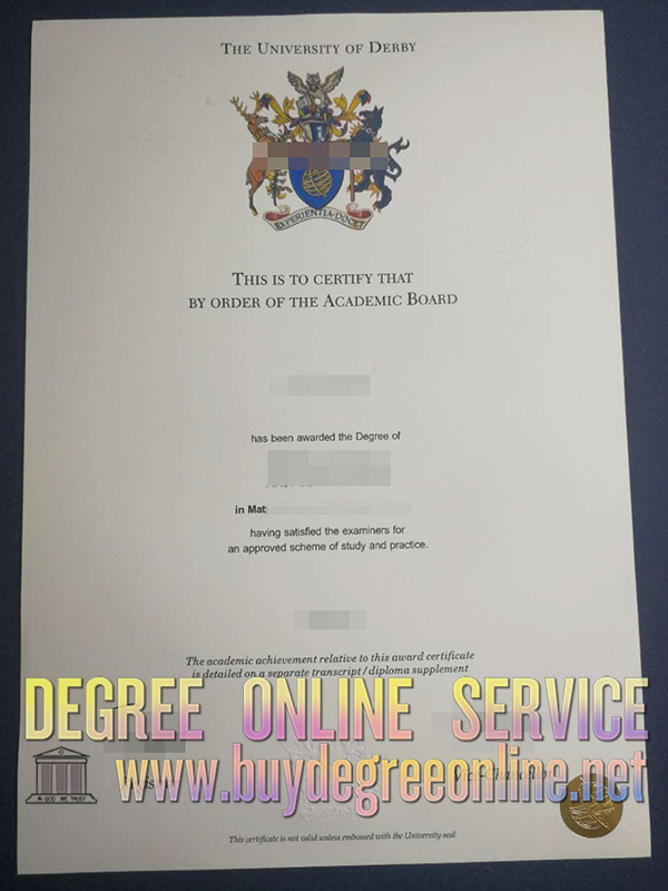 University of Derby degree