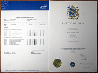Purchase the fake Coventry University diploma with the transcript online