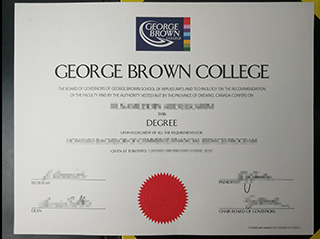 The best website to get a fake George Brown College degree