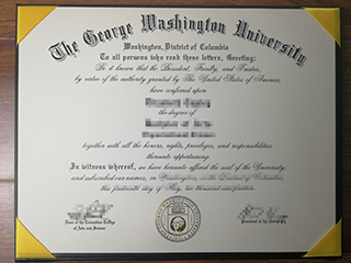 The best site to buy a fake George Washington University bachelor degree