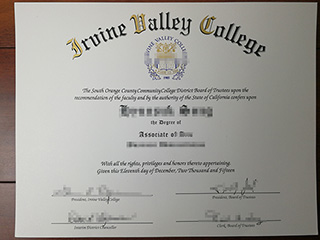 How much to buy a fake Irvine Valley College degree online
