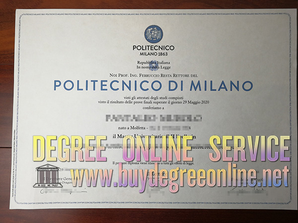 degree of Politecnico di Milano