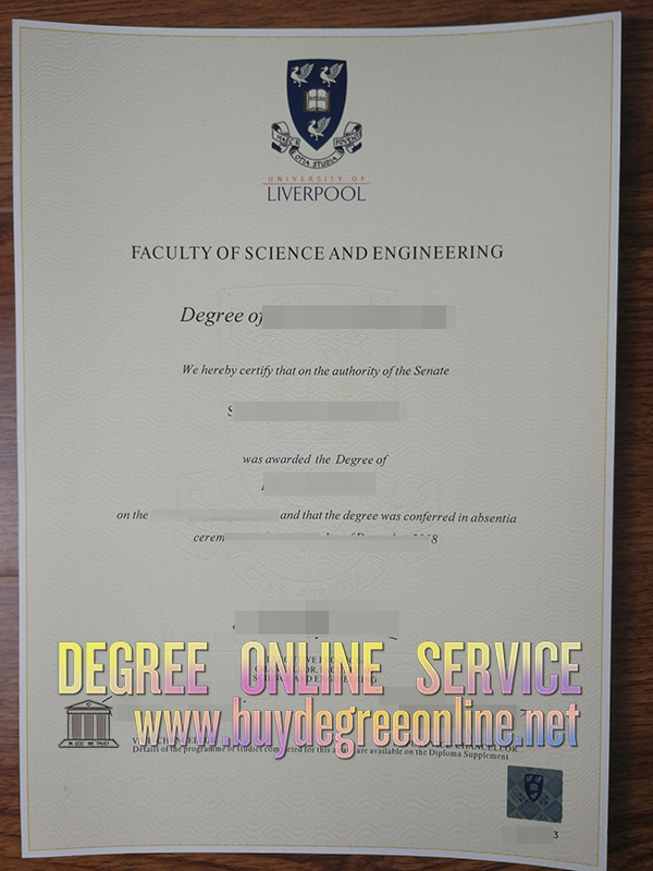University of Liverpool degree