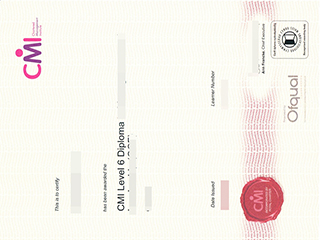 Where to get a fake CMI Level 6 diploma certificate