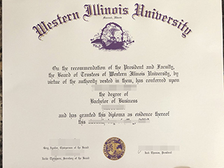 How much a copy of Western Illinois University degree?