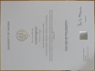 A copy of University of Oxford degree from England for sale online