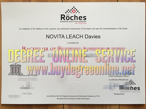 Les Roches International School of Hotel Management degree