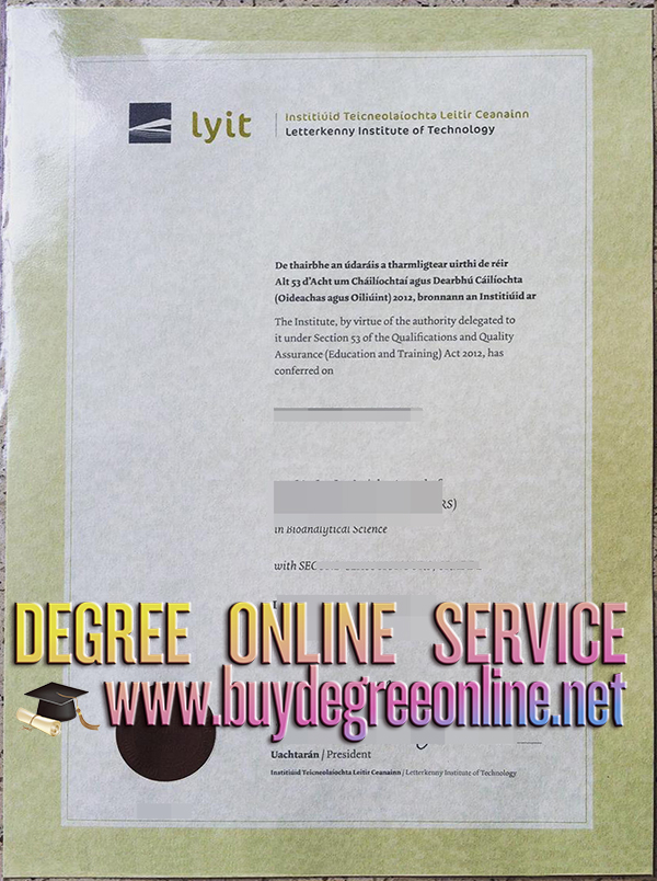 Letterkenny Institute of Technology degree