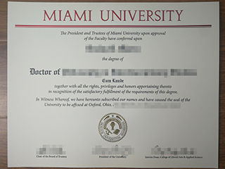 The fake Miami University Doctor degree from America for sale here
