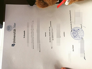 How can I copy a Universität Trier degree as same as real ones?