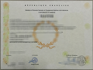 The fake université d'Amiens degree from France for sale here