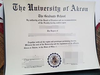 Purchase a fake University of Akron degree, buy UA degree from America