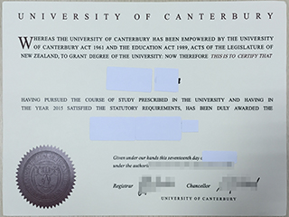 Selling fake University of Canterbury degree from New Zealand here