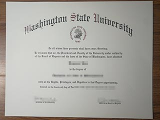 The specific process to buy a copy of Washington State University degree