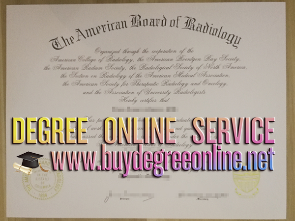 American Board of Radiology certificate