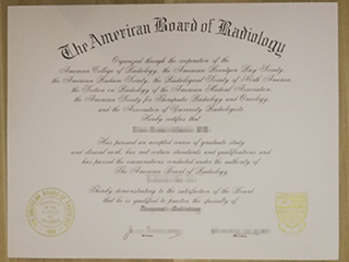 How to buy a fake ABR certificate, American Board of Radiology certificate