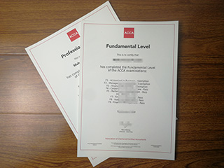 The fake ACCA Professional Level certificate for sale here