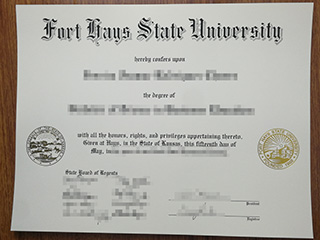 Order a fake Fort Hays State University diploma, buy a fake FHSU degree