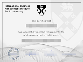 Fake International Business Management Institute certificate, order IBMI Berlin certificate
