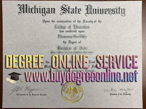 Michigan State University diploma