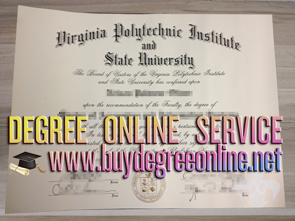 Virginia Polytechnic Institute and State University diploma