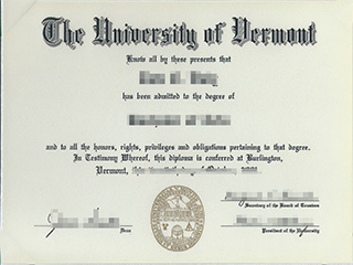 Order a fake University of Vermont diploma, buy a UVM fake degree