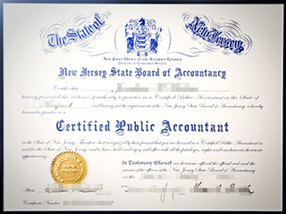 Fake New Jersey CPA certificate, buy a fake CPA certificate in New Jersey