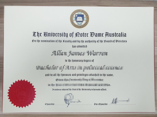 Where to get a fake University of Notre Dame Australia diploma online